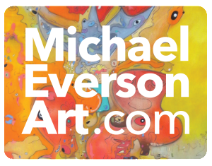 Michael Everson Art color reversed logo